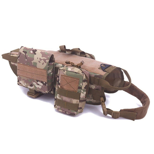 Military No-Pull Tactical Vest - Pet Cache