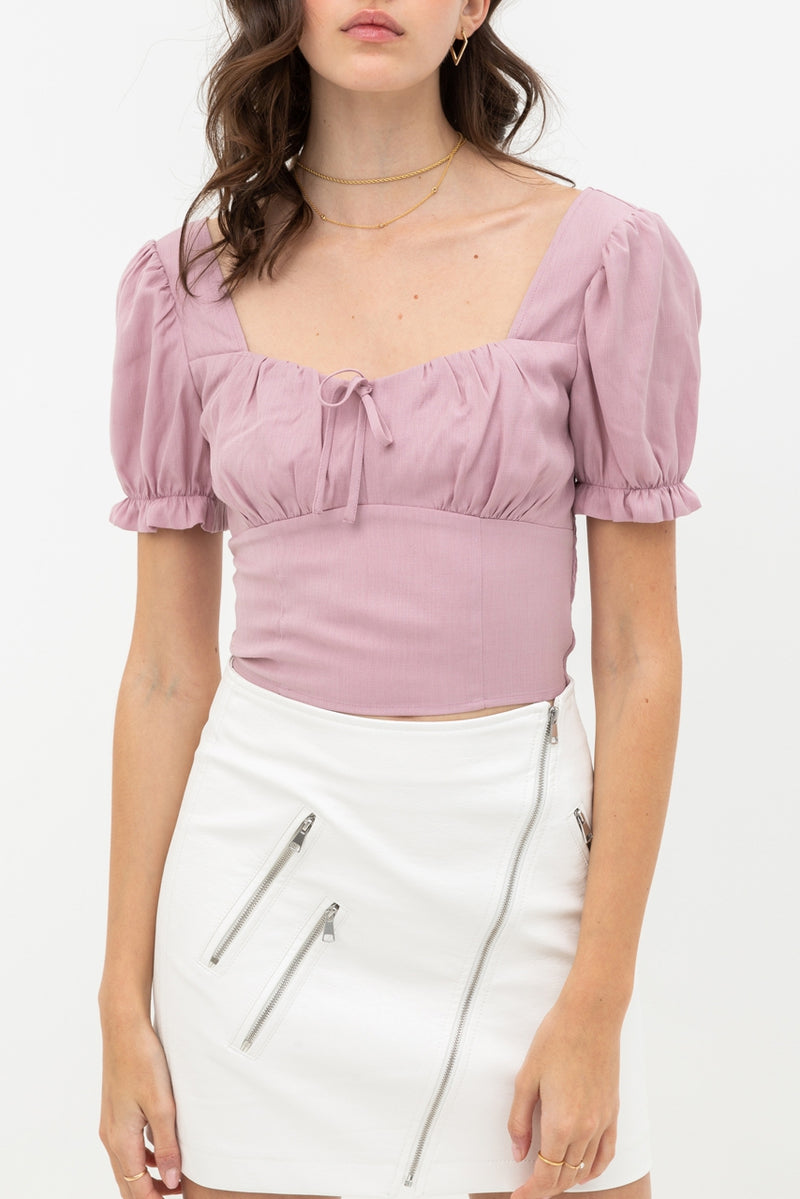 Sweetheart Top- Mauve