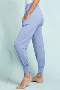 Loungin' Out Joggers- Steel Blue