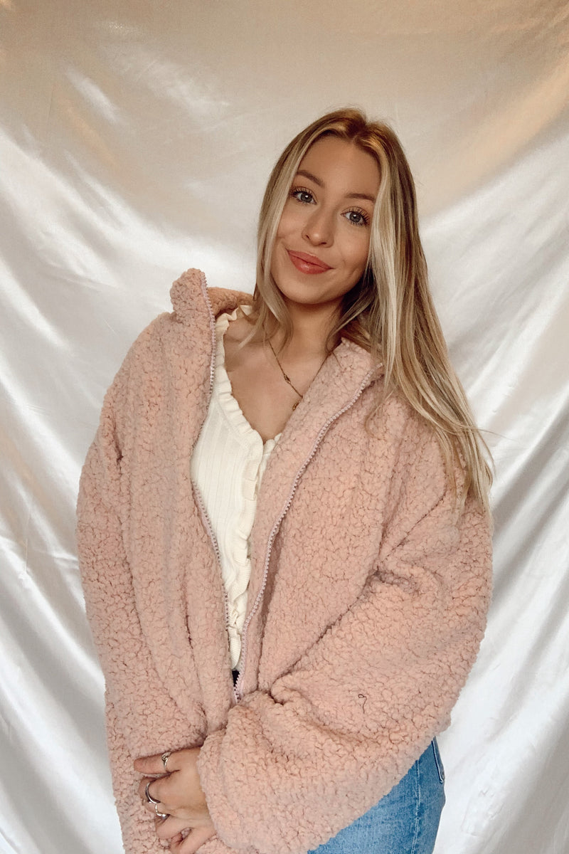 Pink Dreams Teddy Jacket