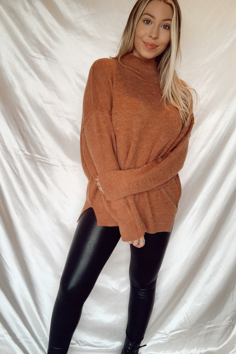 So Chic Faux Leather Leggings