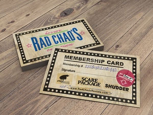 Scare Package - Rad Chad's Horror Emporium Membership Card