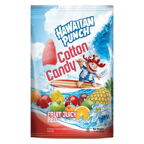Hawaiian Punch Cotton Candy (88g) - Fruit Juicy Red Sugarliciousltd
