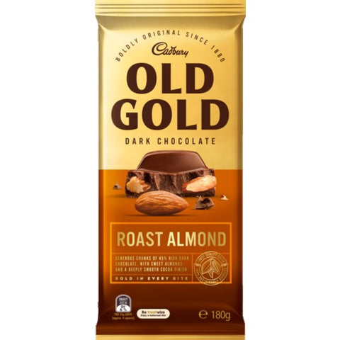 Old Gold Cadbury Block Bars (180g) - Caramel, Peppermint & Roast Almond (Australian Import) Sugarliciousltd