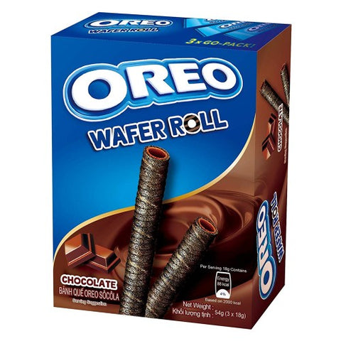 Oreo Chocolate Wafer Rolls (54g) Sugarliciousltd