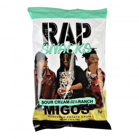 Rap Snacks - Sour Cream With a Dab of Ranch Migos (28g) Sugarliciousltd