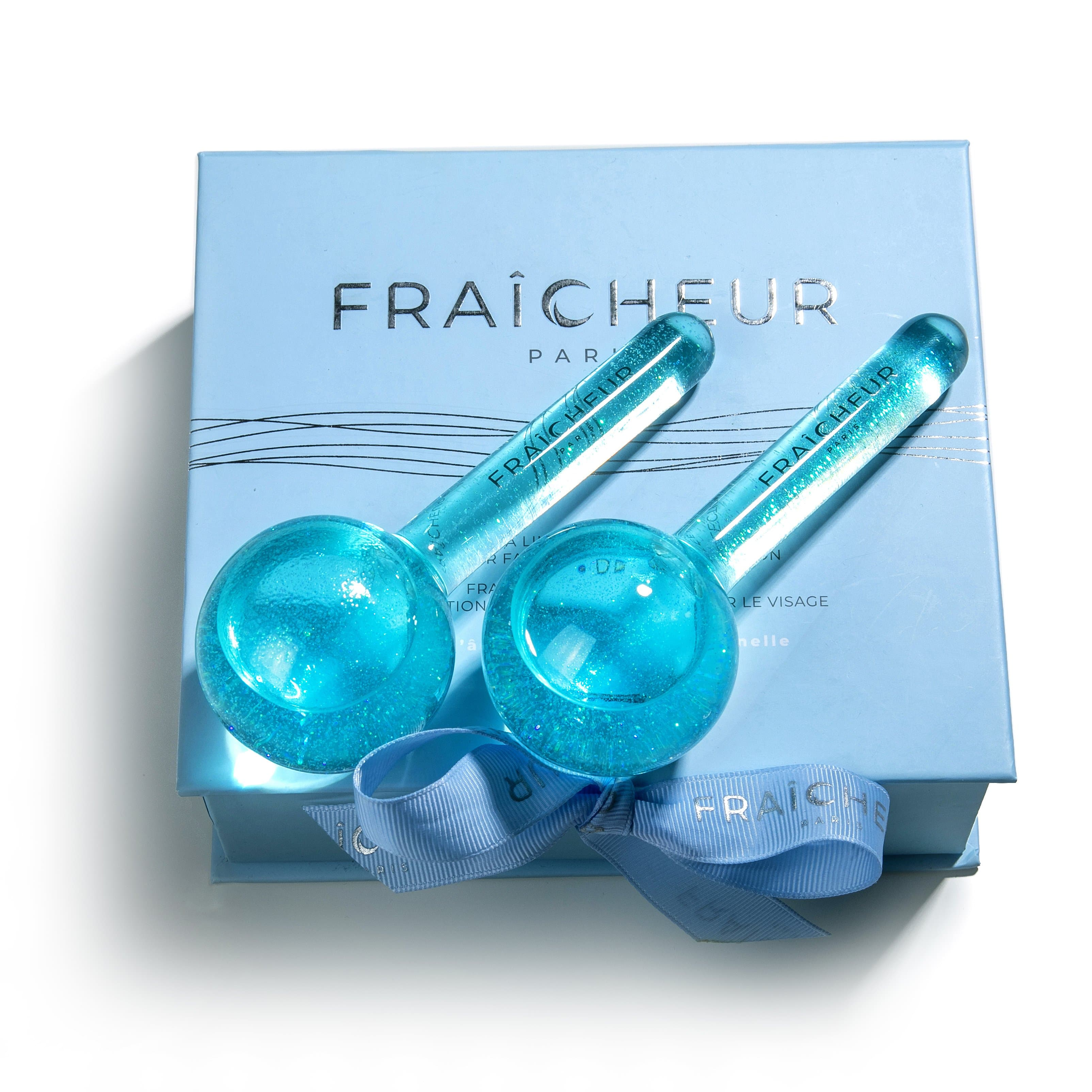 FRAÍCHEUR Ice Globes - Artic BLUE includes 2 x JunéCell Bio-Cellulose Sheet Masks