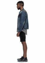 Load image into Gallery viewer, Men's Block Patch Denim Jacket by Konus Brand