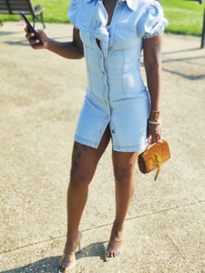 """Knot Yours"" Light Blue Denim Dress"