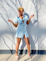 "Load image into Gallery viewer, ""Knot Yours"" Light Blue Denim Dress"