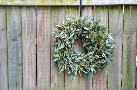 Fresh Seeded eucalyptus wreath