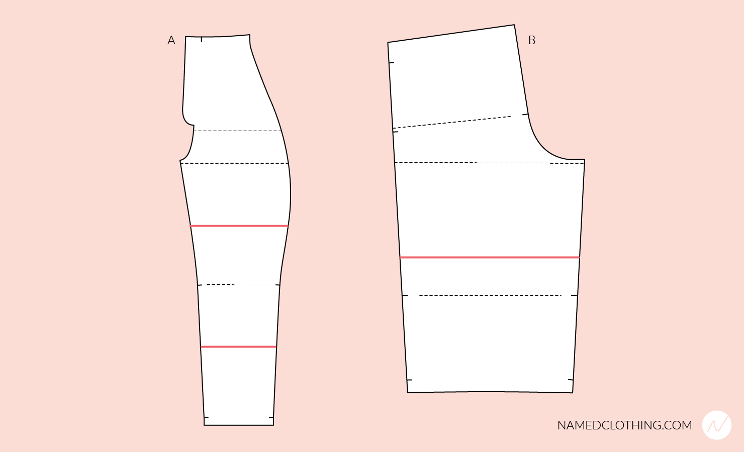 Altering the inseam length of the pattern