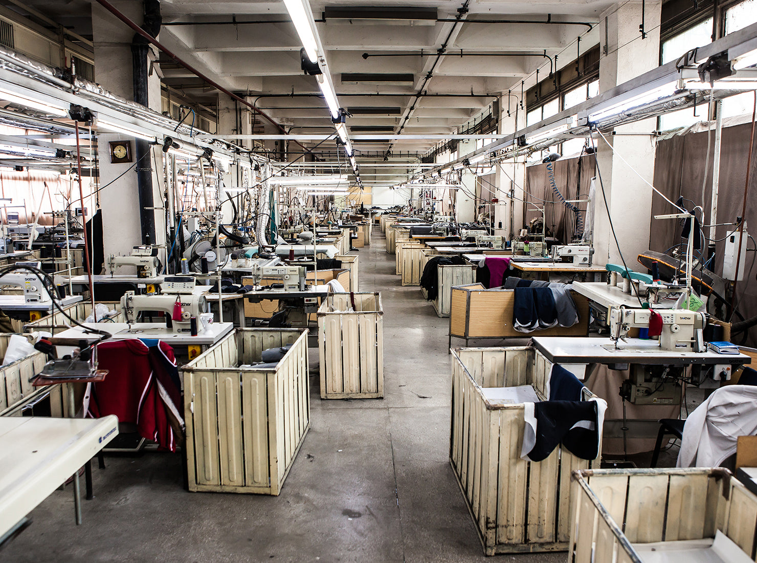 Ready-to-wear clothing production factory
