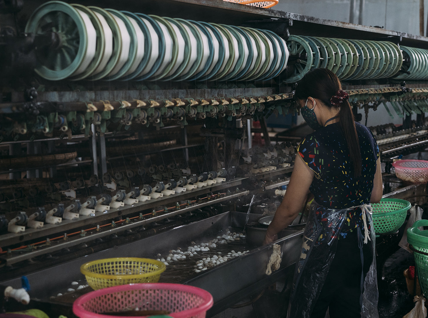 Silk production process