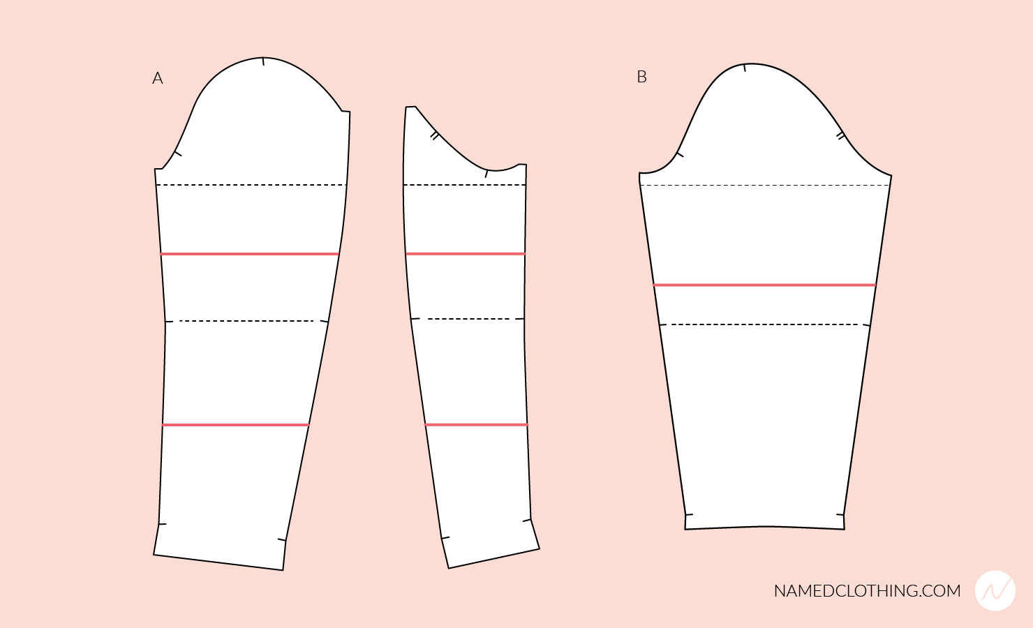Altering the arm length of the pattern