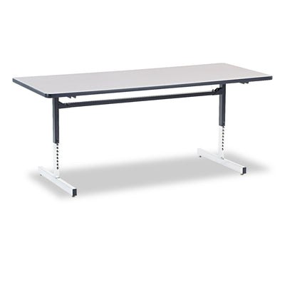 TABLE,COMPUTER 30X72,GY,S