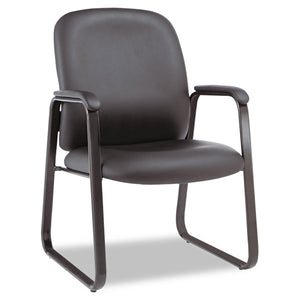CHAIR,GUEST,LEATHER-BK