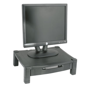 STAND,PLATFRM W/DRAWER,BK