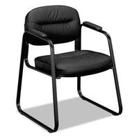 CHAIR,SLED BSE GUEST,BK