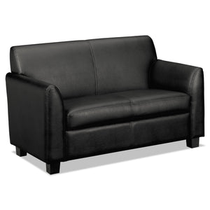 SOFA,LVESEAT,LEATHER,BK