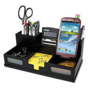 ORGANIZER,DESK,PH HDLR,BK
