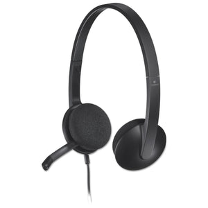 HEADSET,CORDED, USB,BK ,L