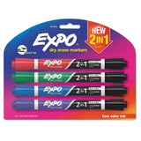 MARKER,EXPO,DUAL END,4CT