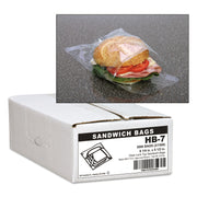 BAG,SANDWICH,FOLD TOP,CLR