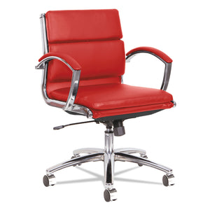 CHAIR,LOW,LEATHER/CHRM,RD