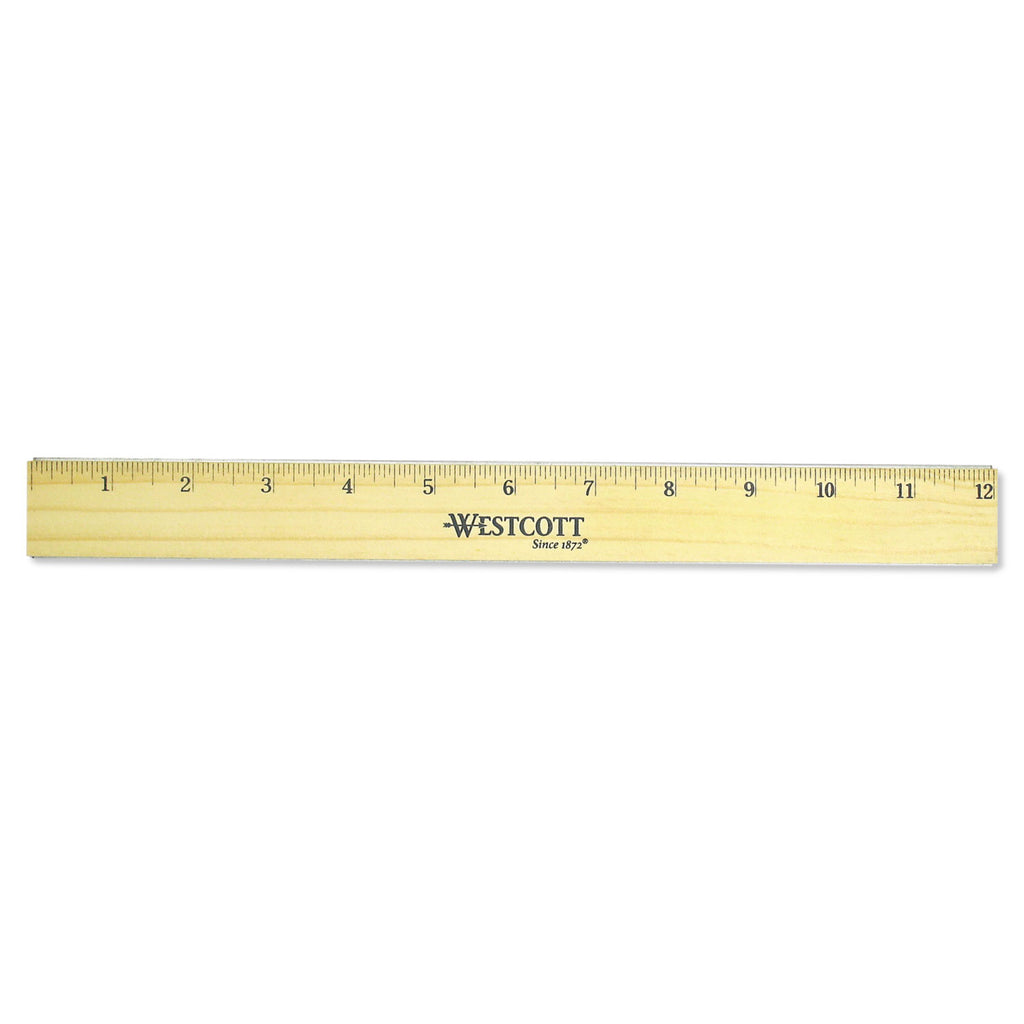 RULER,WOOD,12IN,DBL EDGE