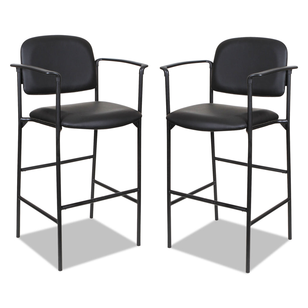 STOOL,W/ARMS,2/CT,BK