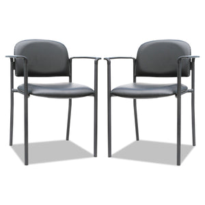 CHAIR,W/ARMS,2/CT,BK