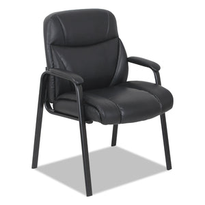 CHAIR,GUEST,LEATHER,BK