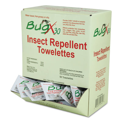 WIPES,BUGX DEET,50/BX