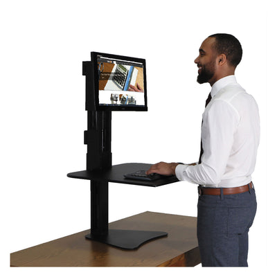 WORKSTATION,SIT-STAND,BK