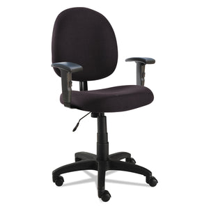 CHAIR,TASK,W/ADJ ARM,BK
