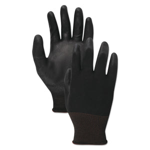 GLOVES,PU,PALM,COAT,BK