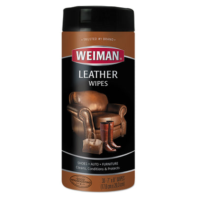 WIPES,LEATHER,30CT