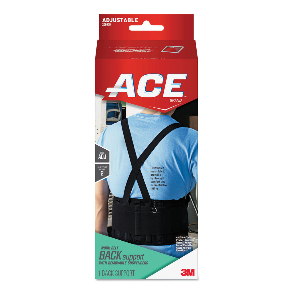 SUPPORT,ACE WORK BELT,BK