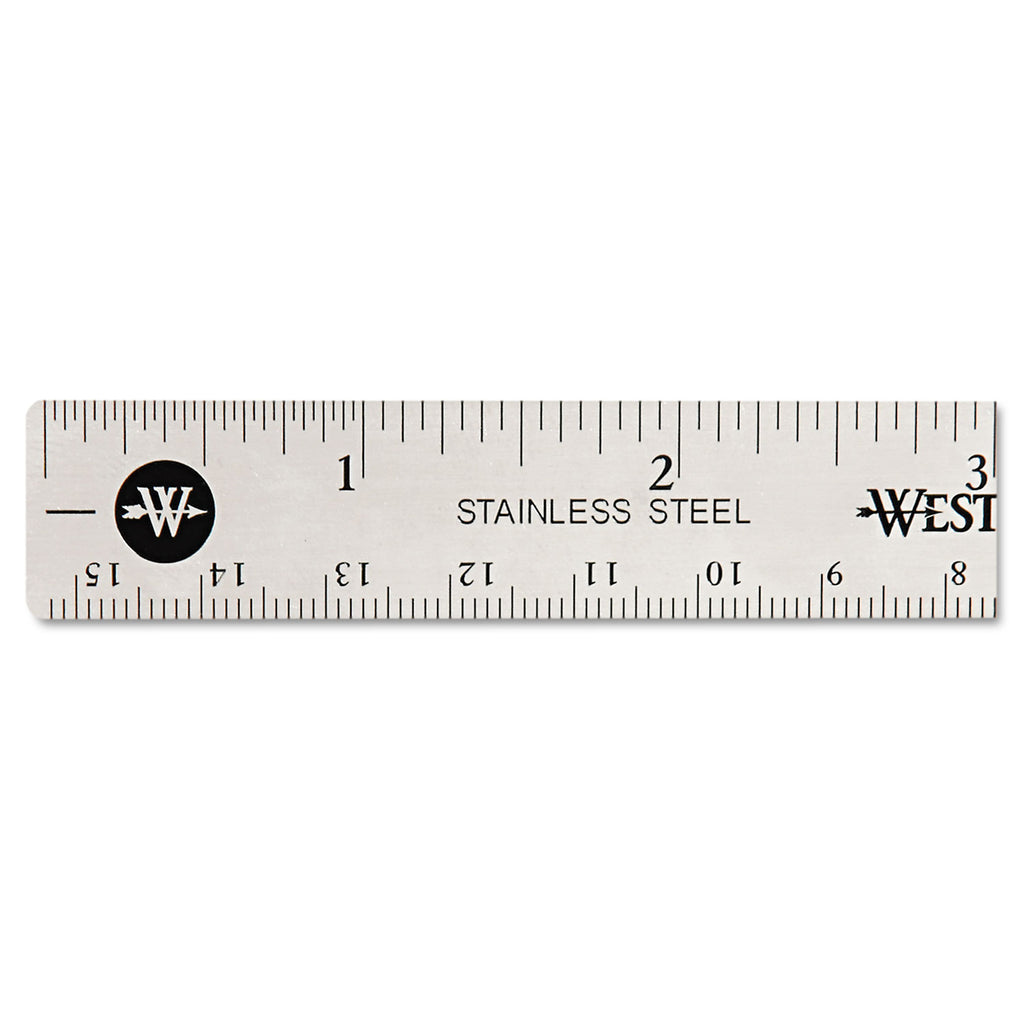 RULER,STAINLSS STEEL,6IN