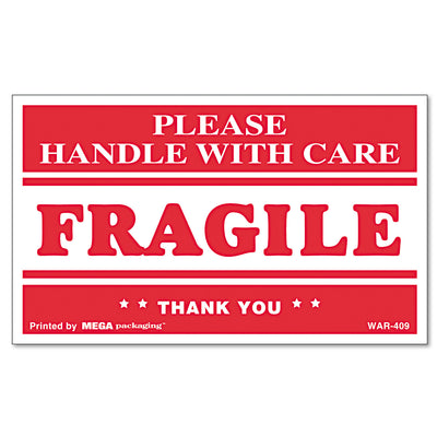 LABEL,3X5 FRAGILE HWC,RD