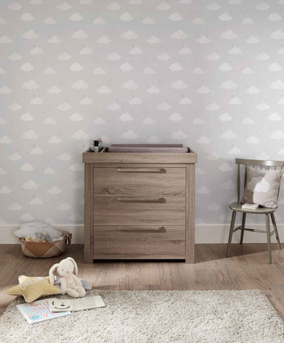 Mamas & Papas Dressers & Changers Franklin 3 Door Dresser & Changing Unit - Grey Wash