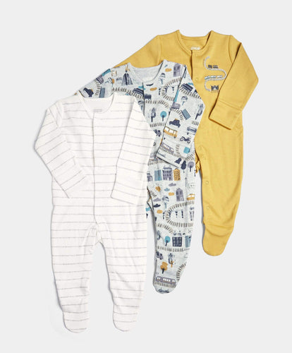 Mamas & Papas Multipacks 3 Pack Transport Sleepsuits