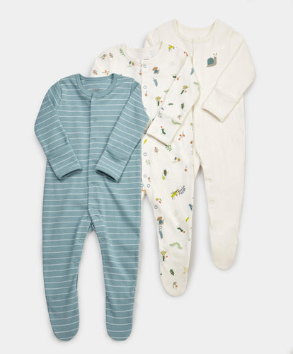 Mamas & Papas Multipacks Bugs Sleepsuits - 3 Pack