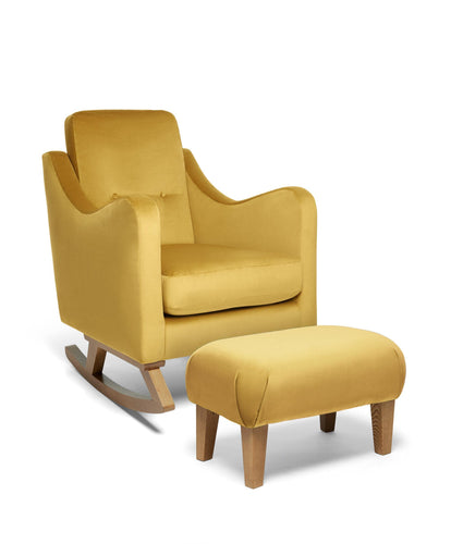 Mamas & Papas Nursing Chairs Bowdon Nursing Chair & Footstool - Mustard Velvet