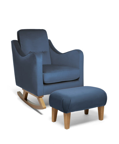 Mamas & Papas Nursing Chairs Bowdon Nursing Chair & Footstool - Navy Velvet