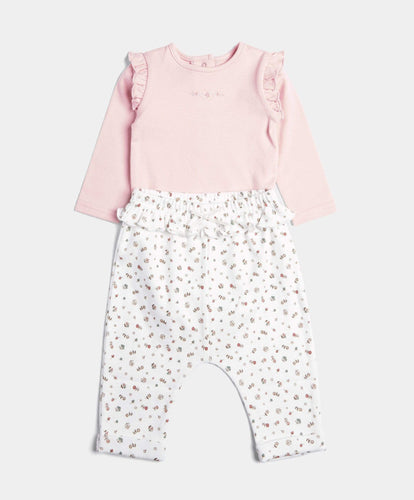 Mamas & Papas Outfits & Sets Floral Legging & Bodysuit Set