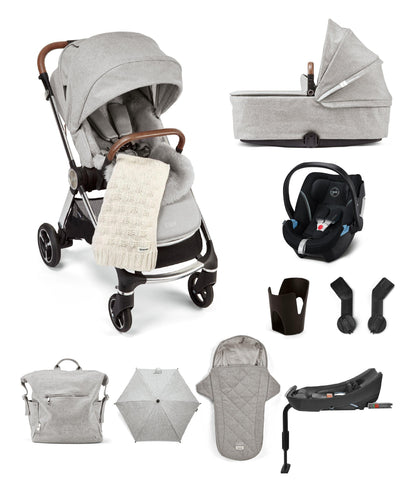 Mamas & Papas Pushchairs Strada Elemental 11 Piece Complete Bundle including Aton 5 Car Seat