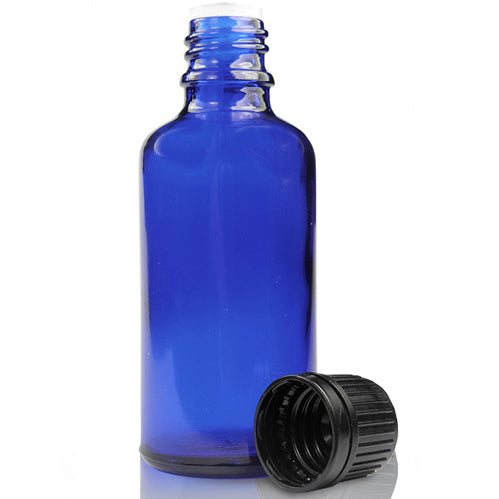 Cobalt Blue Bottles With 18Mm Neck