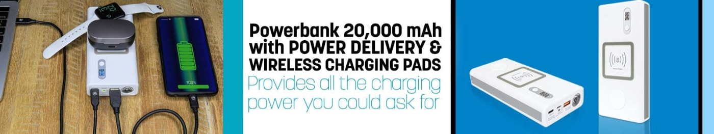 Manhattan Power Bank, PD Charger and wireless charger